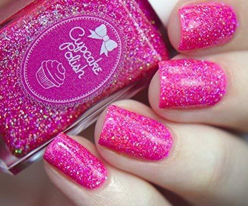 Amazon.com: Mr. Mint - hot pink glitter holographic nail polish by ...
