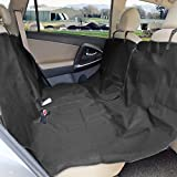 Zone Tech Classic Black Heavy Duty Auto Pet Hammock Premium Quality Dog Vehicle Seat Protector