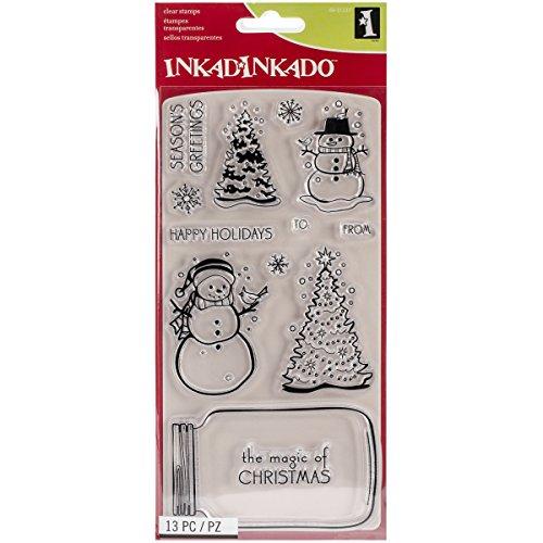 Inkadinkado Christmas Stamps Snowglobe 8 Inch