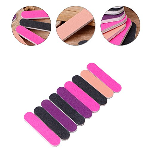 Milue Nail Files Sandpaper Round Double Side Nail Art Tips Manicure For Salon Home Use by Milue (Image #2)