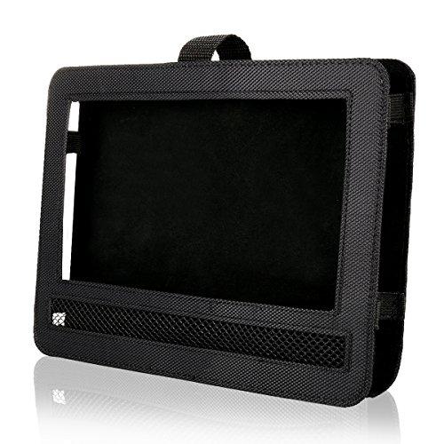 Car Headrest Mount Holder Strap Case for Swivel & Flip Style Portable DVD Player (9.5 inch)