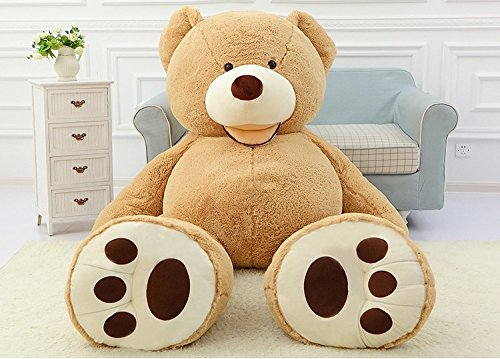 Lion 8' Plush (YXCSELL 11 FT 134 Inches Huge HugFun Giant Teddy Bear Light Brown Stuffed Plush Animal Toy Perfect Gift for Grown ups)