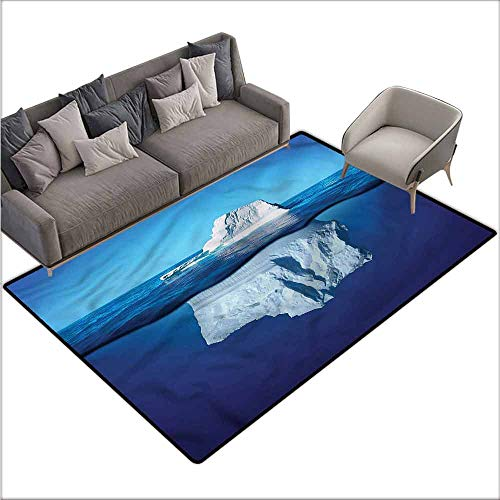 (Anti-Slip Outdoor Rugs Nature,Siberia Cold Snow North Pole 64