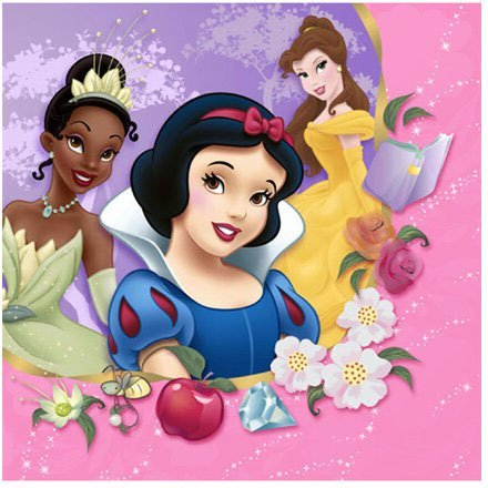 - Beverage Napkins - Disney's Princess Dreams, 1