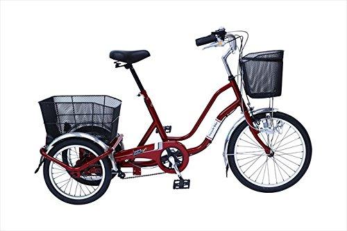 スイングチャーリー【SWING CHARLIE】 SWING CHARLIE911 ノーパンク三輪自転車E MG-TRW20NE 1710 ワインレッド 20インチ B076D4ZQBM