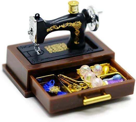 Vintage máquina de coser casa de muñecas en miniatura: Amazon.es ...
