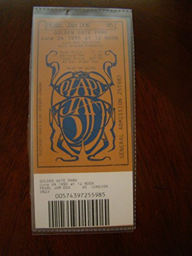 (Pearl Jam Vintage Music Ticket Pearl Jam Neil Young S.F. 1995)