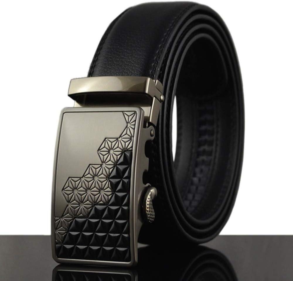 DENGDAI Leather Belt Mens Belt Length 100-135cm