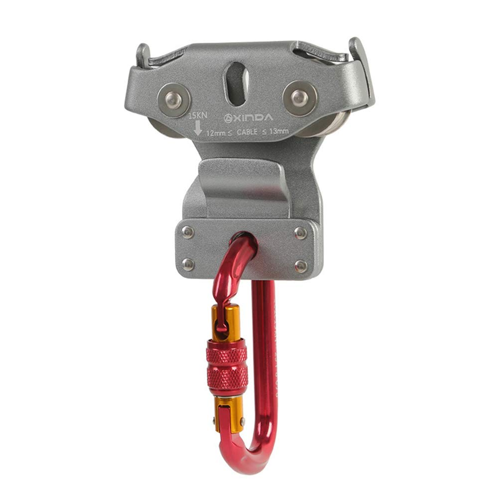 owhelmlqff Practical Type Stainless Steel Wire Rope Crane Pulley Block Lifting Crane Swivel Hook Single Pulley Block Hanging Wire Towing Wheel