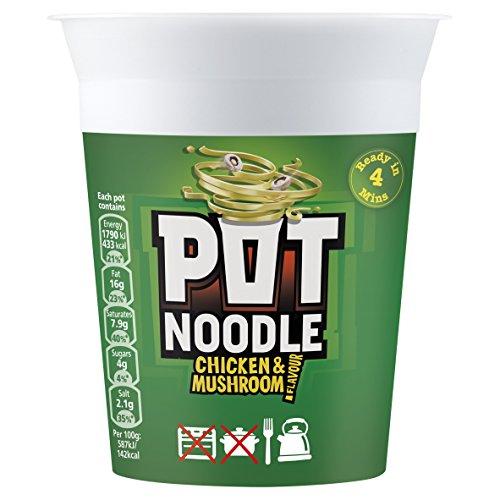 90g Pot (Pot Noodle Chicken and Mushroom 90 g (Pack of)