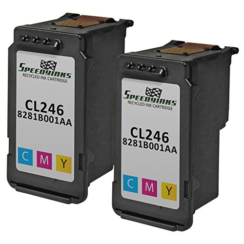 Speedy Inks - 2 Pack Canon 8281B001AA / CL-246 Color Remanufactured Inkjet Cartridge for use in PIXMA iP2820, PIXMA MG2420, PIXMA MG2520, PIXMA MG2920, PIXMA MG2922, & PIXMA MG2924