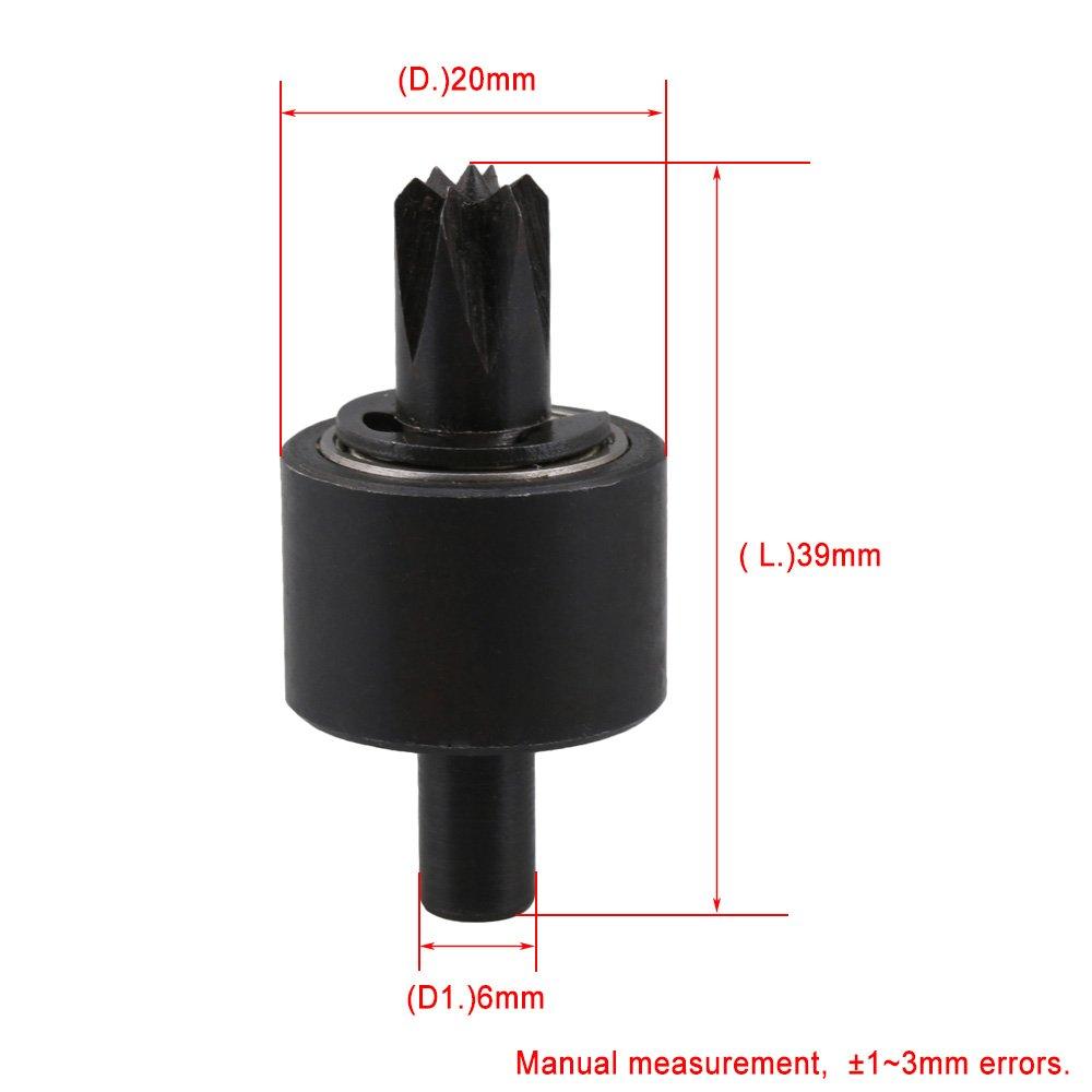 36,8/x 20/mm supporto da 6/mm contropunta rotante a fiore per mini tornio CNBTR