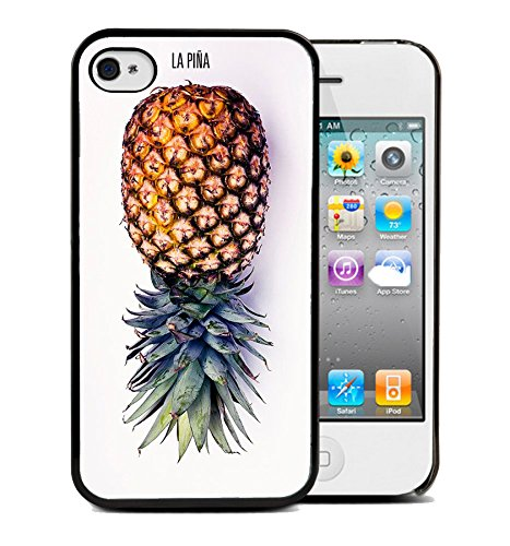 Coque silicone BUMPER souple IPHONE 5c - Ananas Pineapple Fruit motif 1 DESIGN case+ Film de protection OFFERT