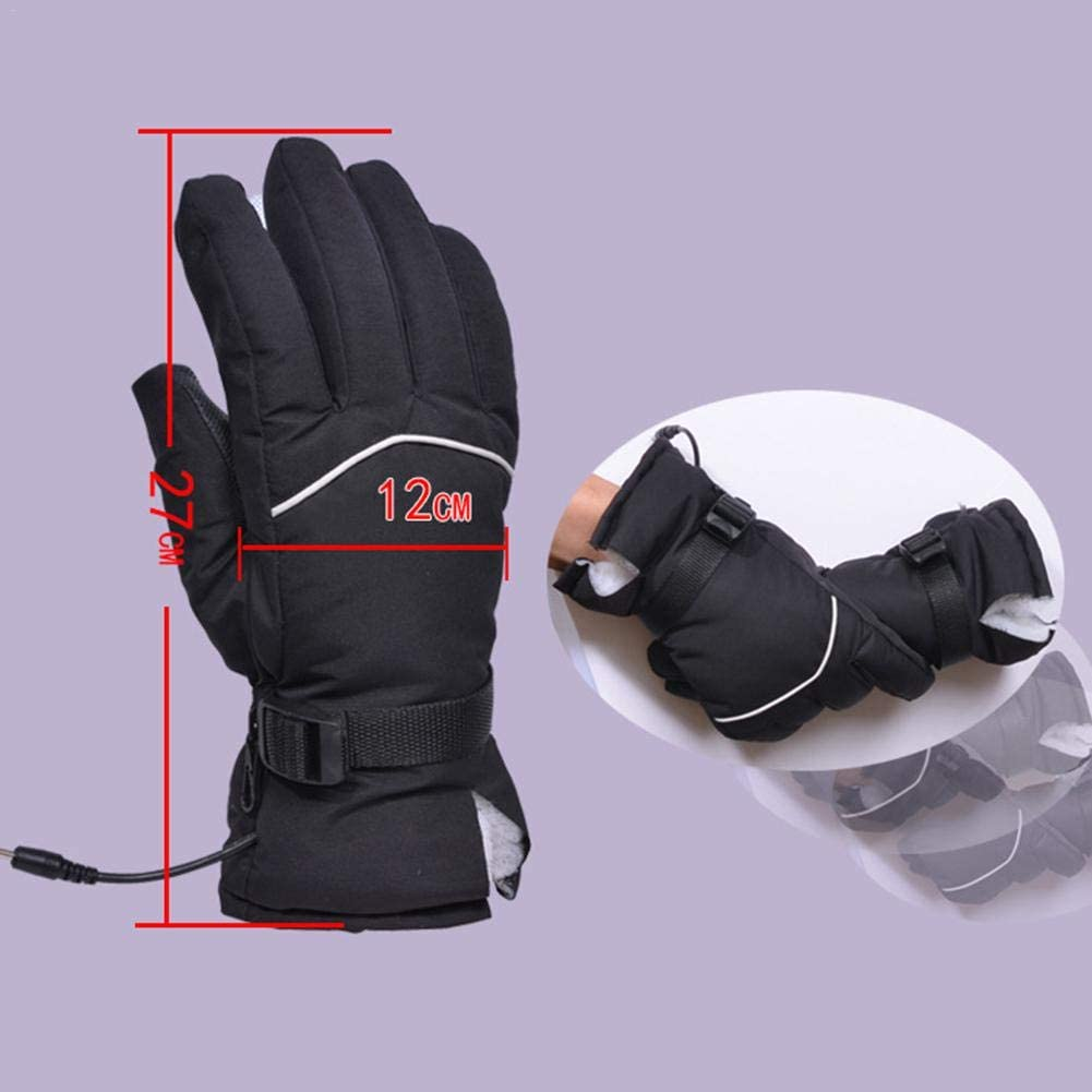 Heated Gloves Fit Men and Women Electric Car Rechargeable Heating Gloves Fast Heating Winter Warm Gloves for Motorbike Motorcycle Electric Car
