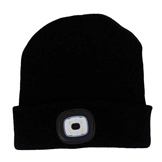 LED Light-up Knit Hat Unisex USB Rechargeable Lighting and Flashing Winter  Warm Beanie Cap 92ac612f5e9c