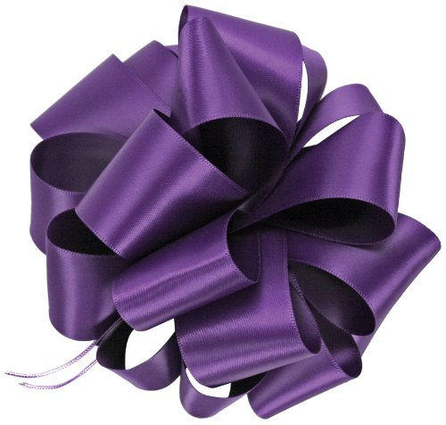 Offray Single Face Satin Craft Ribbon, 3/8-Inch by 100-Yard Spool, Regal Purple (Satin Ribbon Regal)