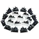 ZXHAO LY1316 Plastics Wire Management Wire Cable Holder Clamps Cable Tie Holder for Car, Office and Home 20pcs