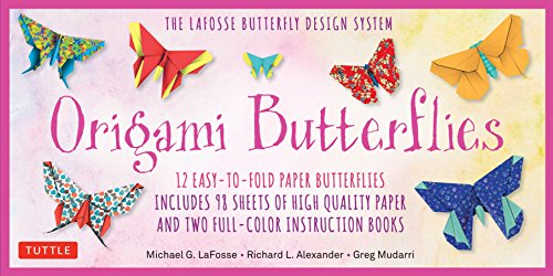 Origami Butterflies Kit: The LaFosse Butterfly Design System - Kit Includes 2 Origami Books, 12 Projects, 98 Origami Papers: Great for Both Kids and Adults -