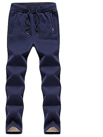 dahuo Pantalones de chándal para Hombre, Cintura elástica, Forro ...