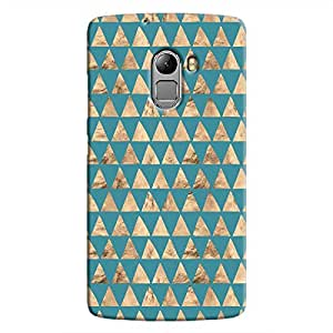 Cover It Up - Brown Blue Triangle Tile K4 Note Hard Case