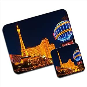 Las Vegas Strip At Night Premium Mousematt & Coaster by ruishername