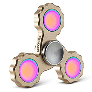 Precision Fidget Spinner Toy By Infinite Spin - High Speed Hybrid Bearings - Perfect for ADHD, Increasing Focus, Concentration, Quitting Bad Habits: 2 To 5 Min Spin Times: EDC (Gold)