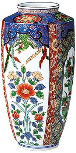 花瓶 : 有田焼 鳳凰草花 肩角花瓶 B00UBB4OX2