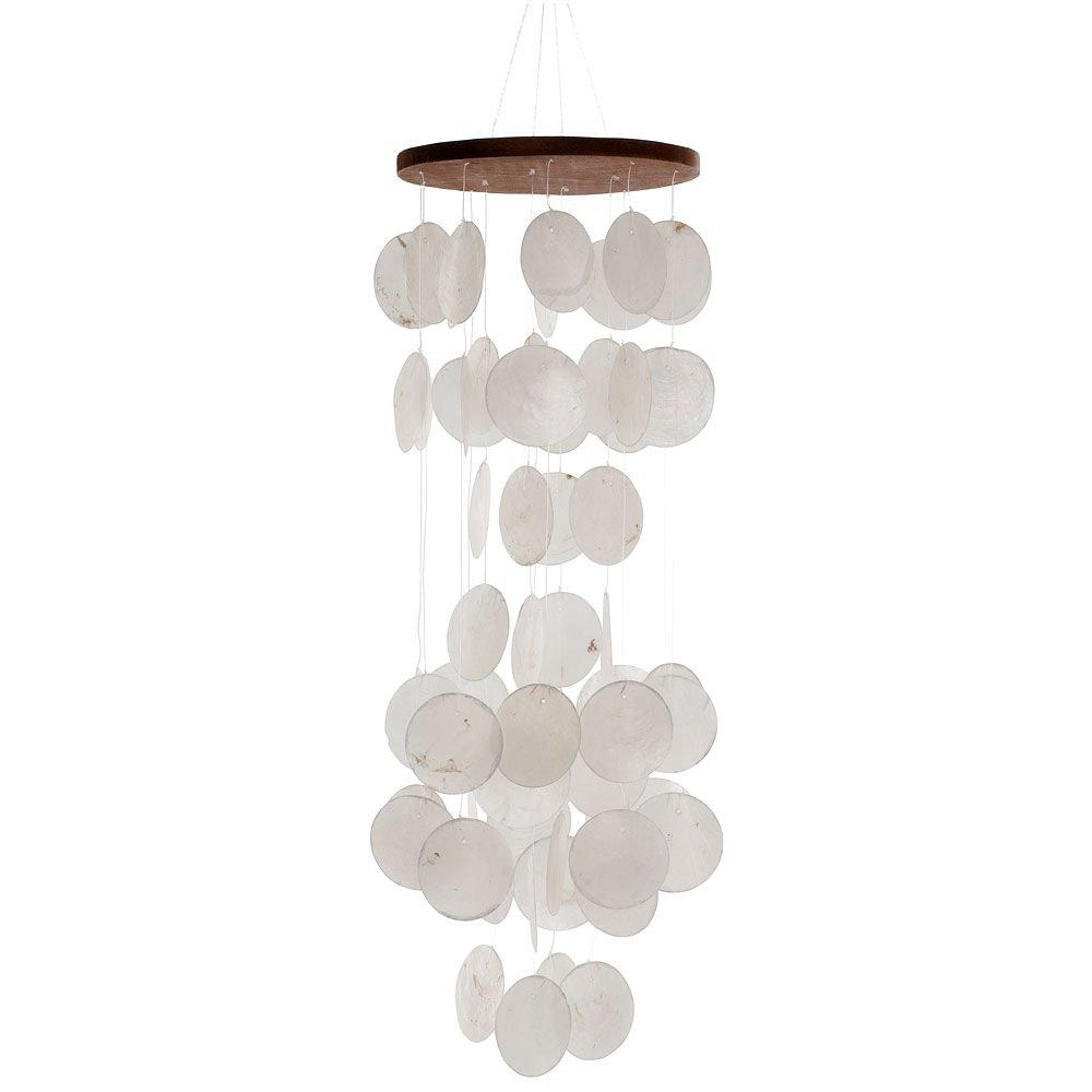 HAB & GUT (HA105 Carillon à Vent Blanc, Nacre, 60 cm, décoration de fenêtre, Mobile pour décorer fenêtre, Mur, Chambre, terrasse et Balcon