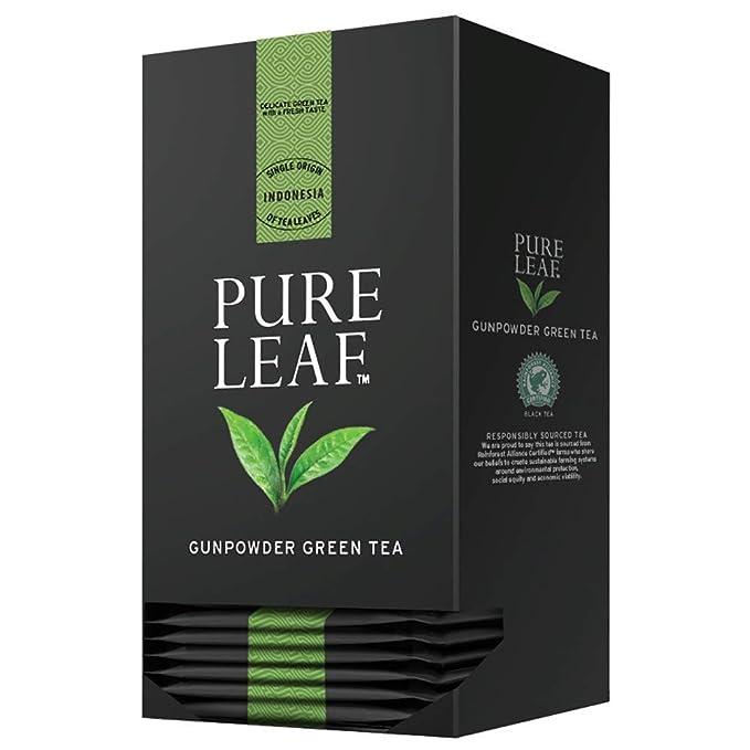 57d879417 Pure Leaf Té verde premium Gunpowder - 2 cajas de 25 pirámides (Total 50  pirámides