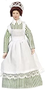 Melody Jane Dolls Houses House Miniature Porcelain People Victorian Woman Lady Servant Maid Cook