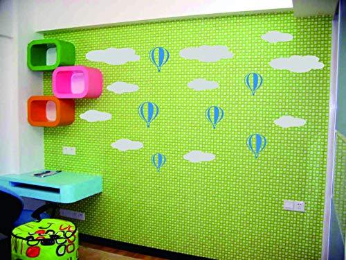 - Lovely Hot Air Balloon Wall Sticker Balloon Clouds Baby Nursery Wall Decals DIY Vinyl Sticker for Kids Room Decoration