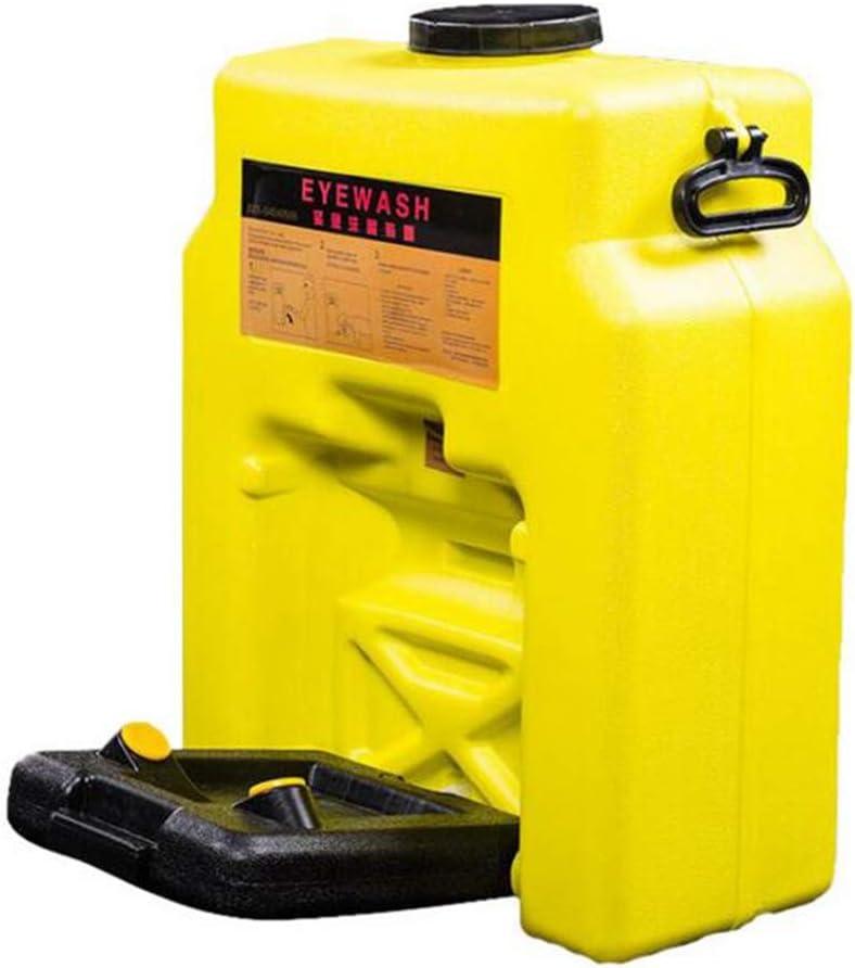 JL Capacidad de 14 galones (53L) Estación Lavaojos de Emergencia Spray Doble Lavaojos para Laboratorio e Industria