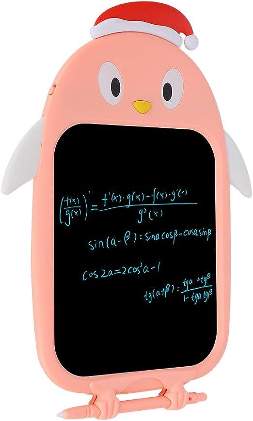 アンチ削除ロックキー、LCD手書きタブレット、LCD手書きボード、ピンク、ボタン電池式、子供向け、グラフィティドロー家族教育