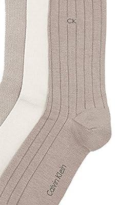 Calvin Klein Underwear Men's 3 Pack Birdseye Multi Pack Crew Socks