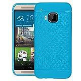 HTC ONE M9 case, Sparkle Hybrid TPU Anti-Scratch Gel Bumper Back Case Cover For HTC ONE M9 - Sky Blue