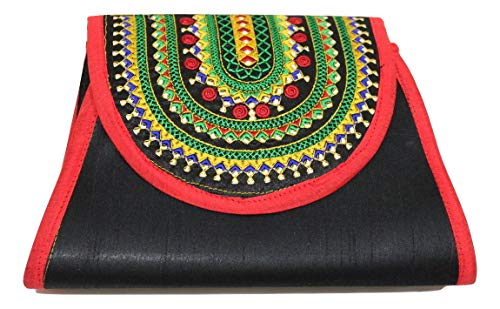 Lonika Crossbody Handmade Bags For Womens Frosted Evening Clutch Embroidery Envelope Purses Handbag Wedding & Party ()