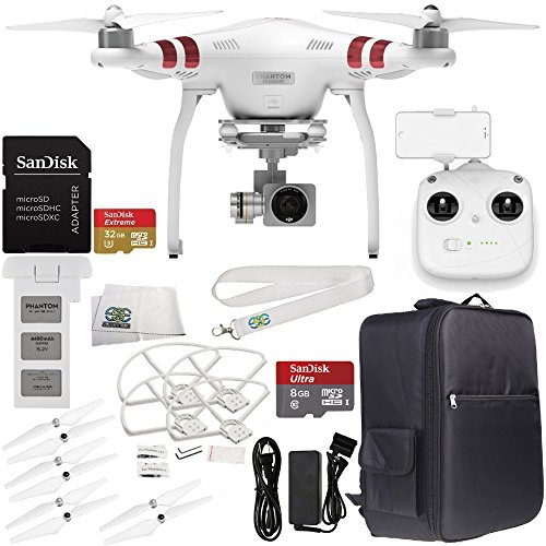 DJI-Phantom-3-Standard-with-27K-Camera-and-3-Axis-Gimbal-Manufacturer-Accessories-DJI-Propeller-Set-Backpack-Quick-Release-Snap-OnOff-Prop-Guards-Set-of-4-MORE