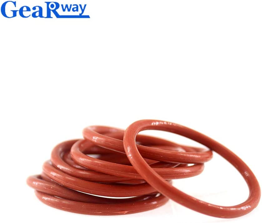 Gimax 3.5mm CS O Ring Seal Gasket Red Silicon O Ring Seal Washer 12//13//14//15//28//29//30mm OD VMQ 55SH Hardness O Ring Sealing Size: 13x6x3.5mm, Color: 300pcs