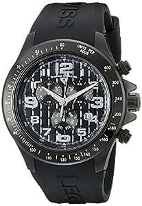 Swiss Legend SL-30041-BB-01 - Reloj cronógrafo para hombre, correa de silicona color negro