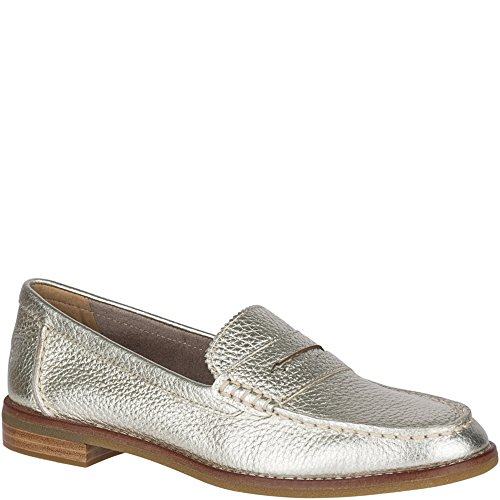 Sperry Damen Seaport Penny Loafer Platin