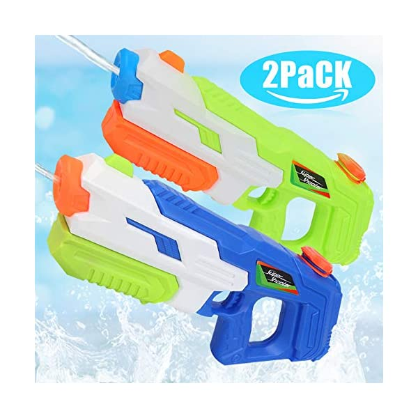 O-Kinee Pistola ad Acqua Pistole 2 PCS di Grande capacità Pistole d'Acqua Giocattolo Blaster,per Piscina Estiva all… 1 spesavip
