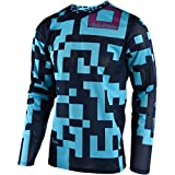 Troy Lee Designs GP Air Maze Men's Off-Road Motorcycle Jersey - Turquoise/Navy / X-Large