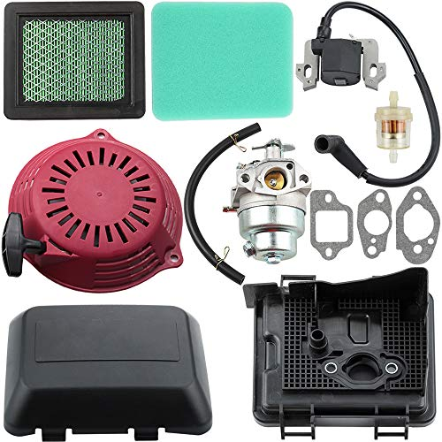 - Dalom GCV160 Carburetor + Recoil Starter + Ignition Coil + Air Filter Cover Tune Up Kit for Honda GCV160A GCV160LA GCV160LE Engine