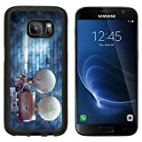 MSD Premium Samsung Galaxy S7 Aluminum Backplate Bumper Snap Case Vintage cinema film projector against a wall IMAGE 24094448