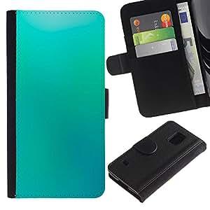 Be Good Phone Accessory // Caso del tirón Billetera de Cuero Titular de la tarjeta Carcasa Funda de Protección para Samsung Galaxy S5 V SM-G900 // Blue Wallpaper Light Sky Relaxing Paint
