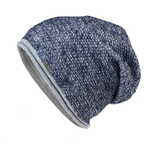 Glamexx24 - Gorro de Punto - para Hombre azul/gris
