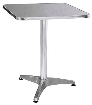 Premier Housewares Aluminium Bistro Square Table 5ffe55788437