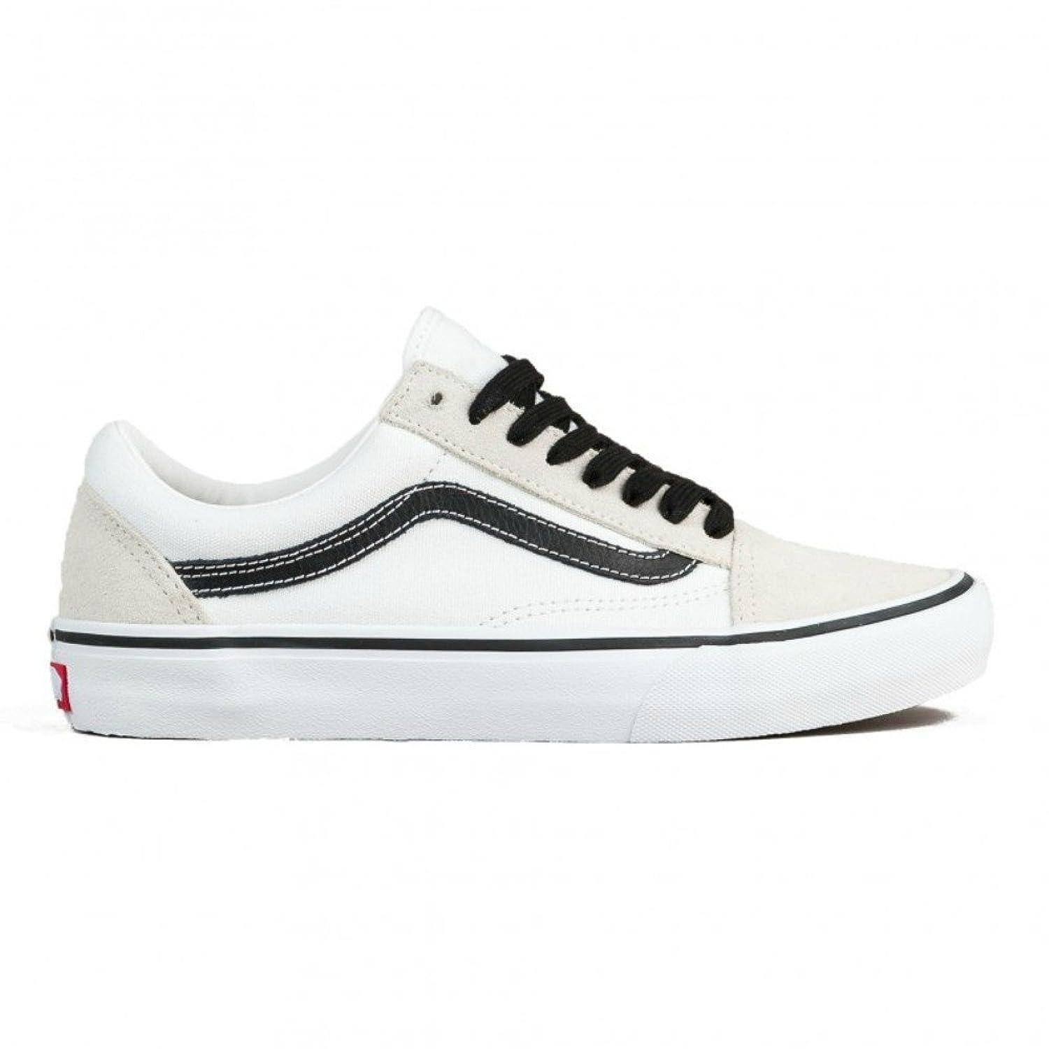 Vans Old Skool Pro 50-årsjubileum White & Black Skate Sko 0ckil18sA