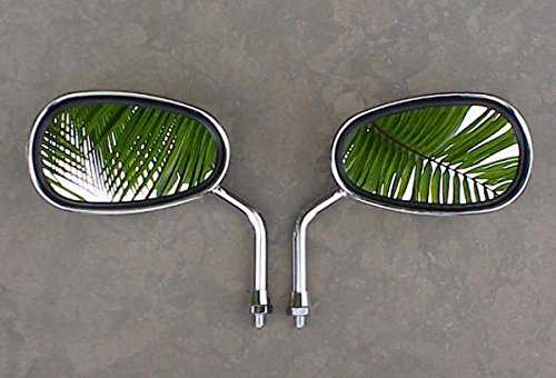 i5® Chrome MINI Mirrors to fit Honda Kawasaki & Suzuki 10mm Handlebar Mount