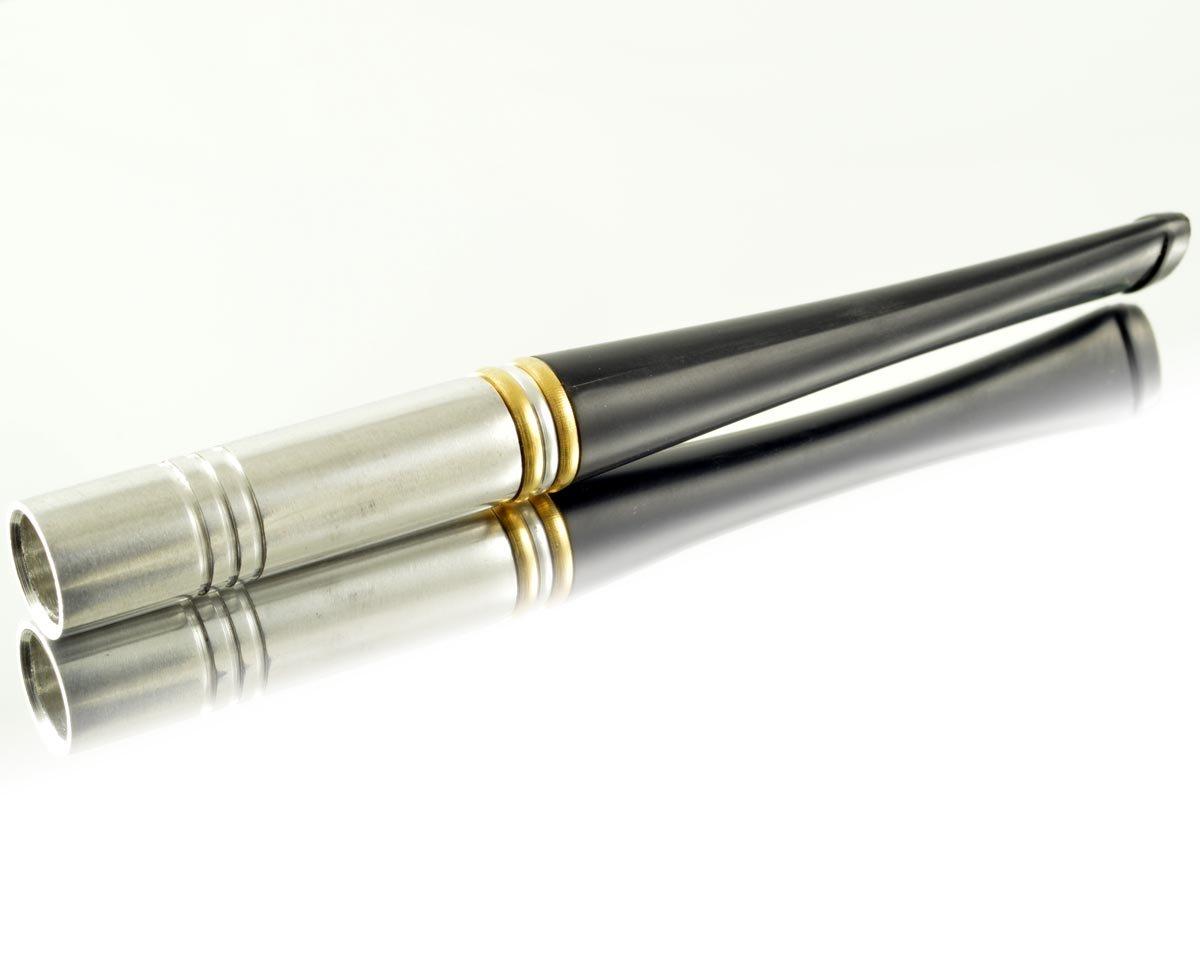 3.86''/98mm New short silver metal men's cigarette holder, fits regular cigarette